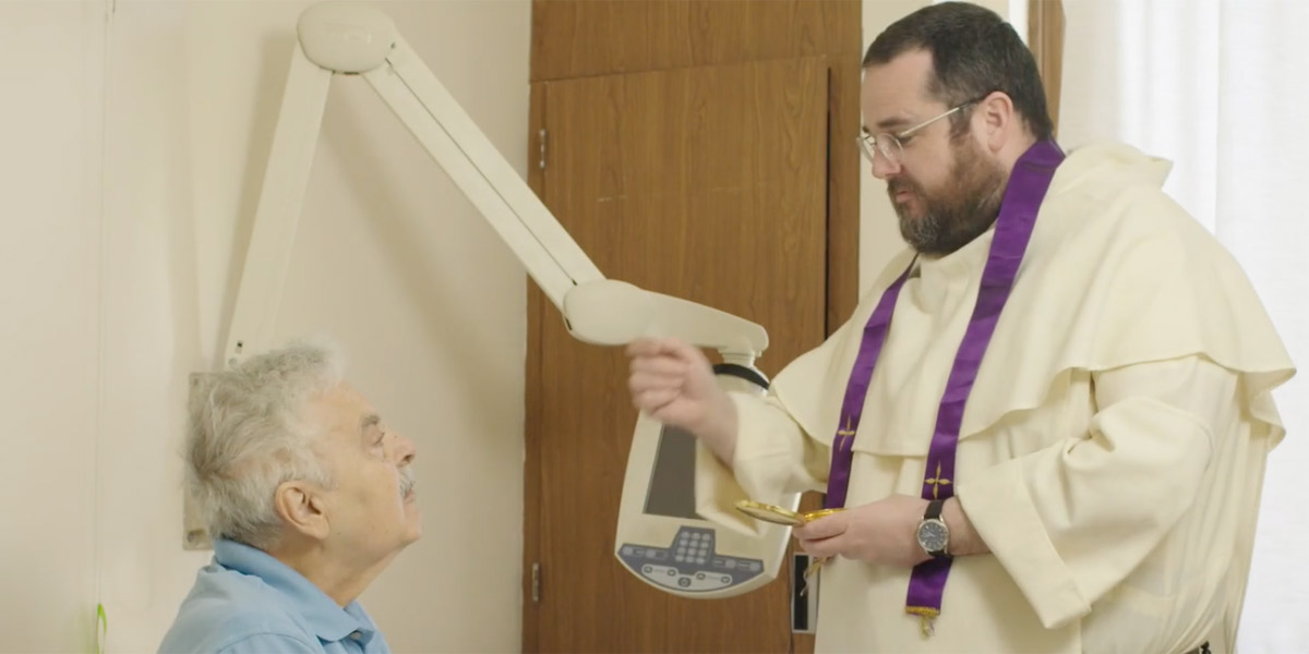Dominican friars administer the Church's sacraments to patients in health care facilities
