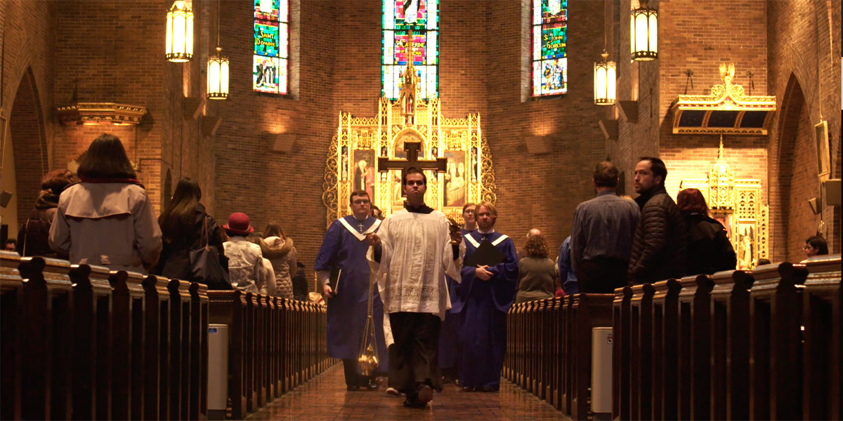 Dominican friars invite the health care community to worship at the Church of St. Catherine of Siena